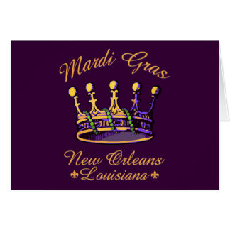 Tarjetas de la corona del carnaval