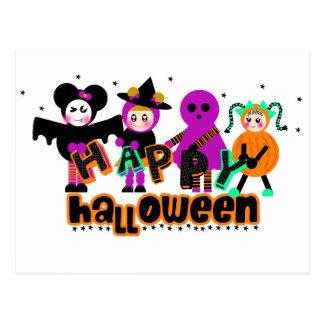 TARJETAS de la CUADRILLA de Halloween Postales