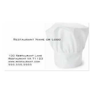 Tarjetas de la cupón del restaurante del gorra del tarjetas personales