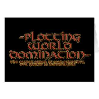 Tarjetas de la dominación del mundo del trazado