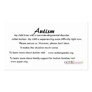 Tarjetas de la educación del autismo del logotipo tarjetas de visita