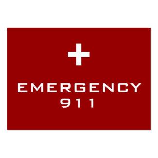 Tarjetas de la emergencia tarjeta personal