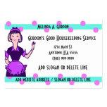 Tarjetas de la empresa de servicios de la criada y tarjetas personales