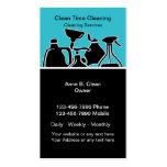 Tarjetas de la empresa de servicios de la limpieza plantilla de tarjeta personal