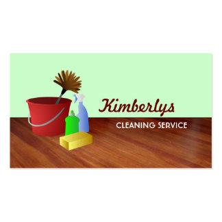 Tarjetas de la empresa de servicios de la limpieza plantilla de tarjeta de negocio