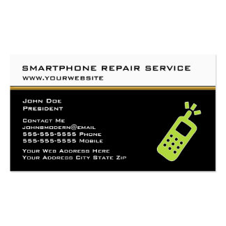 Tarjetas de la empresa de servicios de la reparaci plantilla de tarjeta de negocio