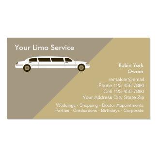 Tarjetas de la empresa de servicios del coche de tarjetas de visita