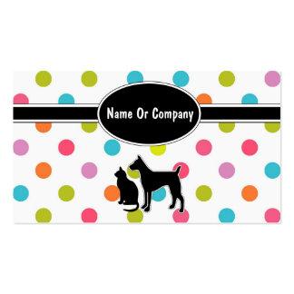 Tarjetas de la empresa de servicios del mascota plantillas de tarjetas de visita