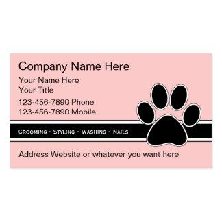 Tarjetas de la empresa de servicios del mascota tarjeta de visita