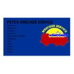Tarjetas de la empresa de servicios del remolque d tarjetas de negocios