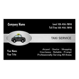 Tarjetas de la empresa de servicios del taxi tarjetas de visita