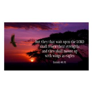 TARJETAS de la escritura del 40:31 de Isaías Tarjetas De Visita