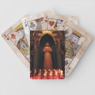 Tarjetas de la estatua de la monja barajas