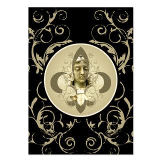 Tarjetas de la estatua del ángel de Fleur Tarjetas De Visita Grandes