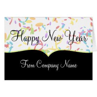 Tarjetas de la Feliz Año Nuevo del negocio