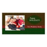 Tarjetas de la foto de familia del navidad del día tarjetas fotográficas