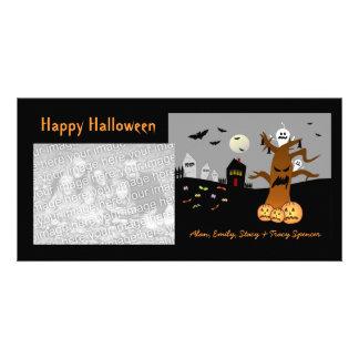 Tarjetas de la foto de Halloween del cementerio de Tarjetas Fotograficas Personalizadas