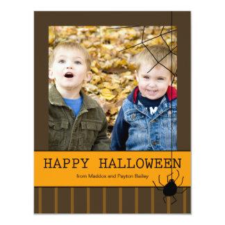 """Tarjetas de la foto de Halloween del susto de la Invitación 4.25"""" X 5.5"""""""