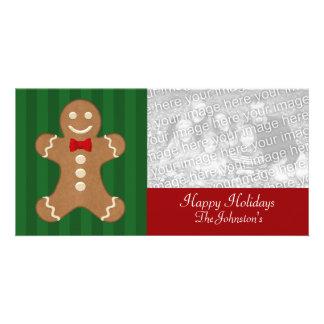 Tarjetas de la foto de la galleta del hombre de pa tarjetas con fotos personalizadas