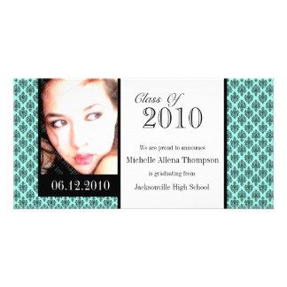 Tarjetas de la foto de la invitación de la plantilla para tarjeta de foto