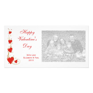 Tarjetas de la foto de la tarjeta del día de San V Tarjeta Con Foto Personalizada