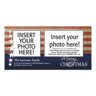 Tarjetas de la foto de las Felices Navidad - milit Tarjeta Fotografica Personalizada