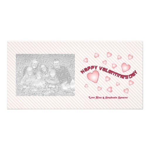 Tarjetas de la foto de los corazones de la tarjeta tarjetas fotográficas personalizadas