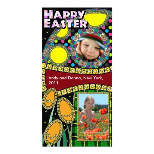 Tarjetas de la foto de Pascua: Huevos y seta de Pa Tarjetas Fotograficas Personalizadas