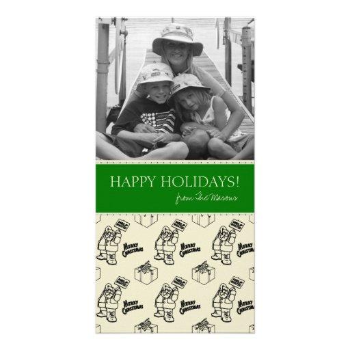 Tarjetas de la foto de Santa del navidad Tarjetas Fotograficas Personalizadas