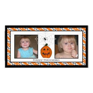 Tarjetas de la foto de Spiderweb del feliz Hallowe Tarjetas Con Fotos Personalizadas