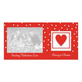 Tarjetas de la foto del amor de la tarjeta del día tarjetas fotográficas