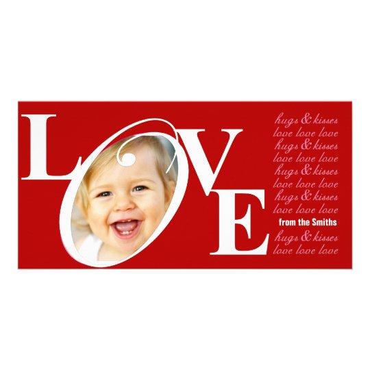 Tarjetas de la foto del amor del el día de San Val Plantilla Para Tarjeta De Foto