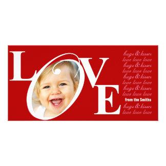 Tarjetas de la foto del amor del el día de San Val Tarjetas Fotográficas Personalizadas