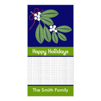 Tarjetas de la foto del beso del navidad tarjeta fotográfica personalizada