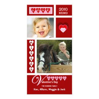 Tarjetas de la foto del collage del el día de San  Tarjetas Fotográficas Personalizadas