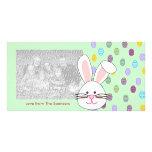 Tarjetas de la foto del conejito de pascua tarjetas con fotos personalizadas