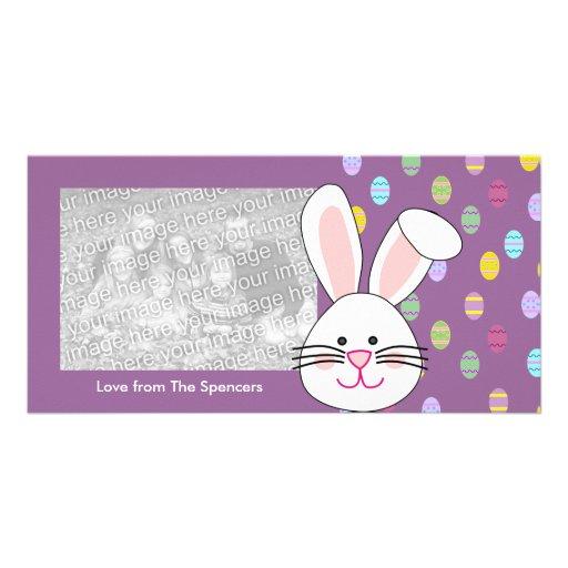 Tarjetas de la foto del conejito de pascua tarjeta personal con foto