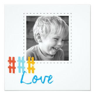 """tarjetas de la foto del cuadrado del amor del invitación 5.25"""" x 5.25"""""""