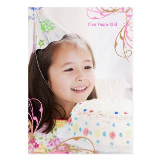 Tarjetas de la foto del cumpleaños de los chicas tarjetas personales