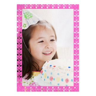 Tarjetas de la foto del cumpleaños de los chicas tarjetas de visita