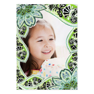 Tarjetas de la foto del cumpleaños de los chicas plantilla de tarjeta personal