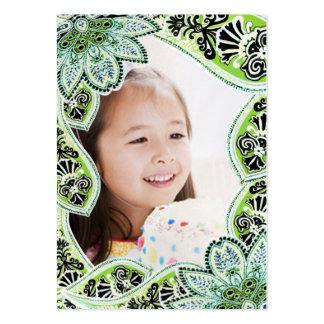 Tarjetas de la foto del cumpleaños de los chicas tarjetas de visita grandes