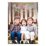 Tarjetas de la foto del día de fiesta de la alegrí anuncio