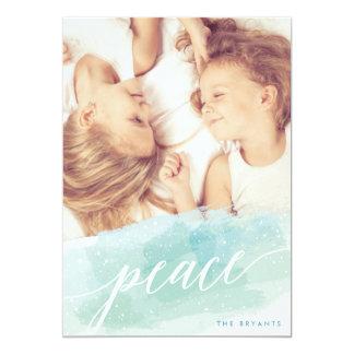 """Tarjetas de la foto del día de fiesta de la paz de invitación 5"""" x 7"""""""