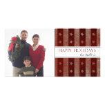 Tarjetas de la foto del día de fiesta de las barra tarjeta fotografica personalizada