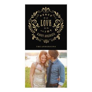 Tarjetas de la foto del día de fiesta del amor y tarjetas fotograficas personalizadas