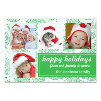 Tarjetas de la foto del día de fiesta del navidad invitación 8,9 x 12,7 cm
