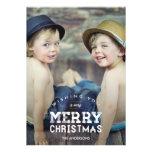 Tarjetas de la foto del día de fiesta del navidad  anuncio