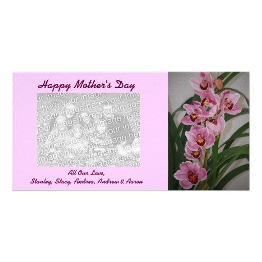 Tarjetas de la foto del día de madre del aerosol d tarjetas fotográficas personalizadas