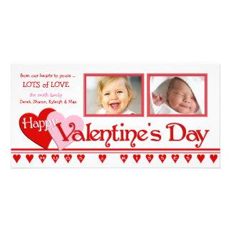 Tarjetas de la foto del el día de San Valentín - m Plantilla Para Tarjeta De Foto